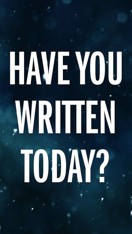 Have You Written Today iPhone 5 Lock Screen