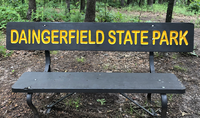 Daingerfield State Park bench.