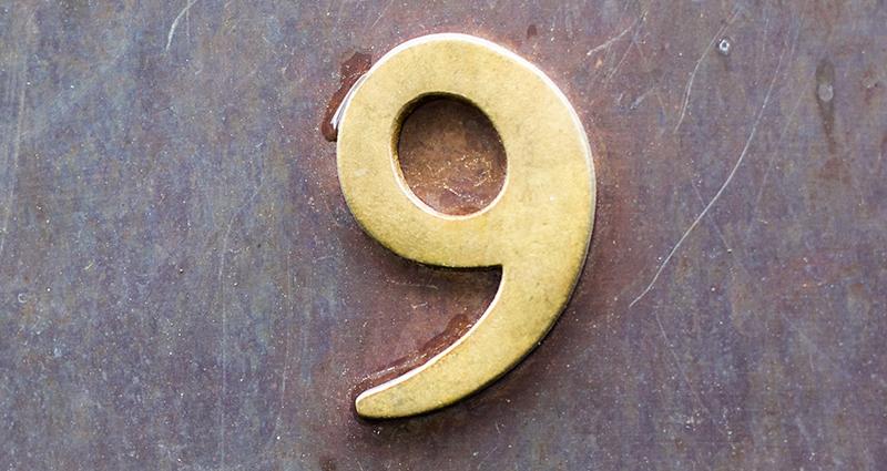 The number nine.
