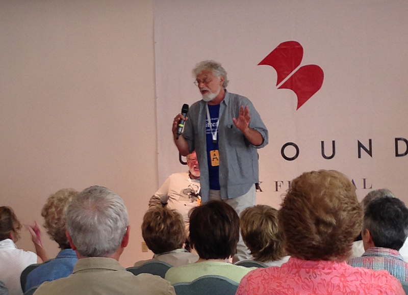 Bob Shacochis addressing the audience at the Unbound Book Festival
