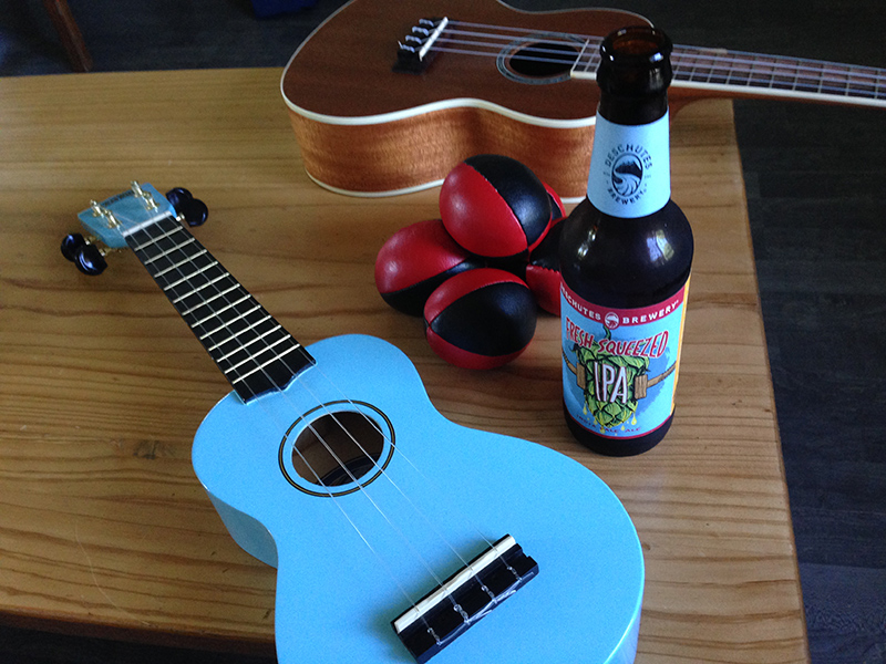 Ukuleles, Beer, and Juggling Bags