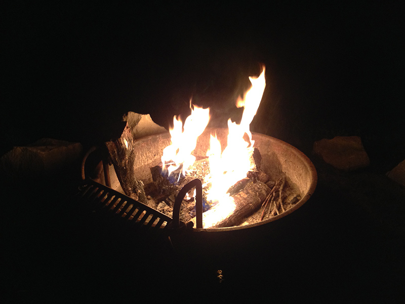 Campfire at Cooper Lake State Park