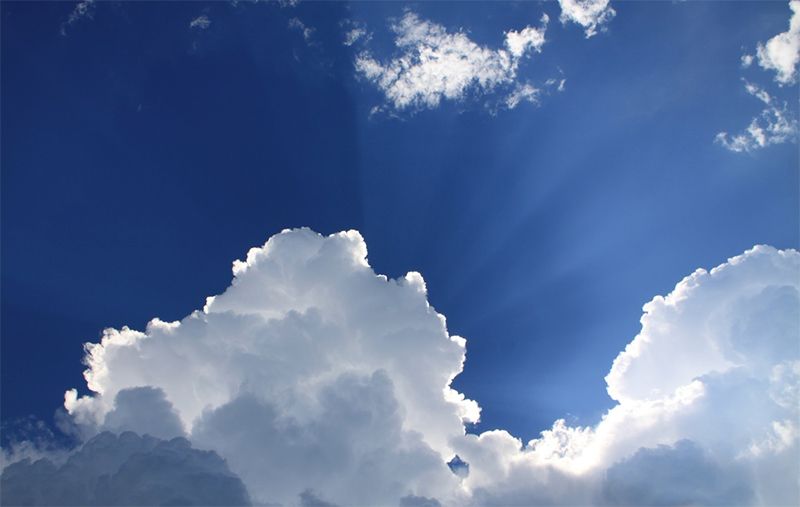 Rays of Light from a Cloud