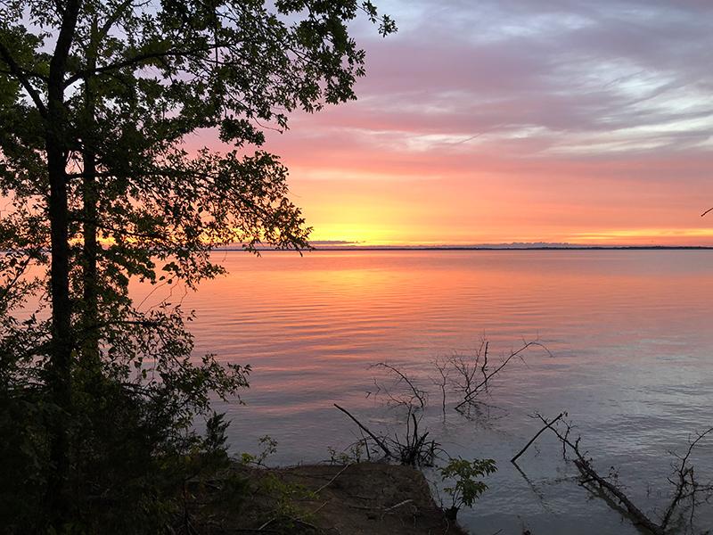 Cooper Lake State Park sunset.