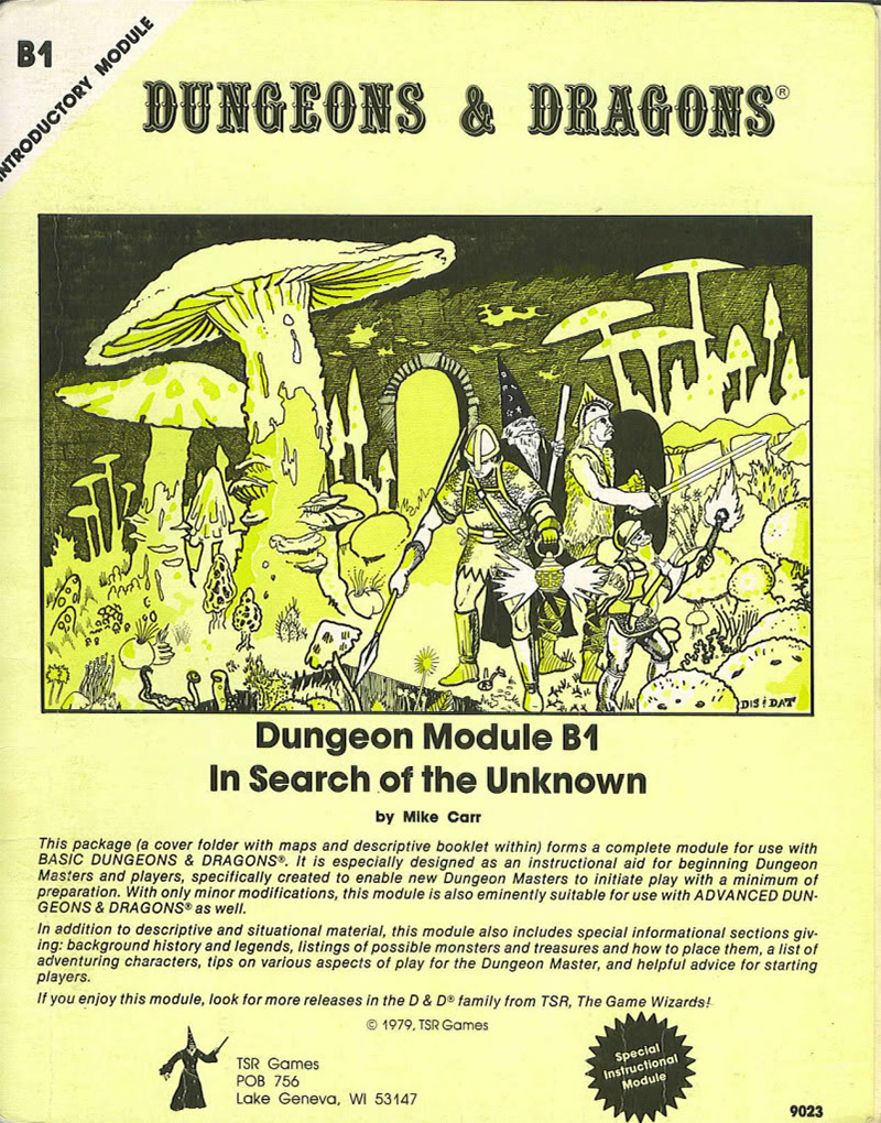 Dungeons and Dragons: In Search of the Unknown