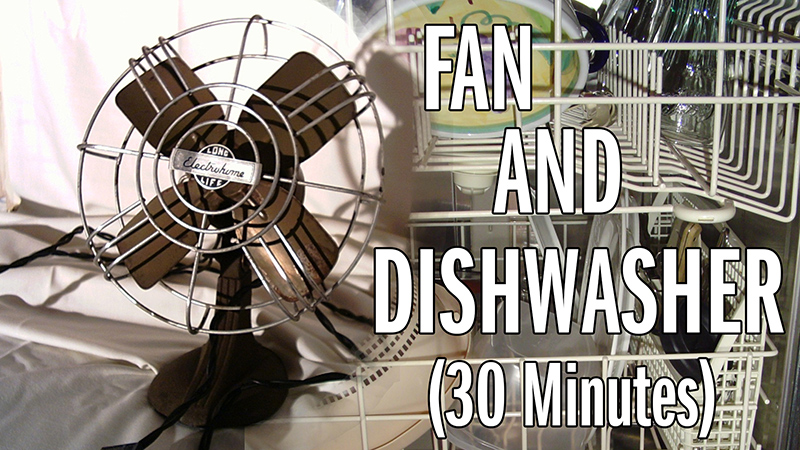 Electric fan and a dishwasher
