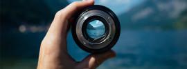 Landscape through camera lens
