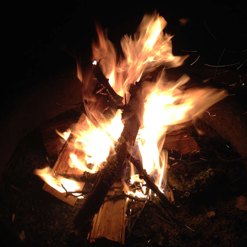 Friday's campfire.