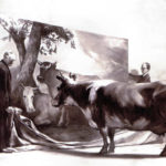 The Innocent Eye Test, by Mark Tansey - Cow looking at a painting of a cow.