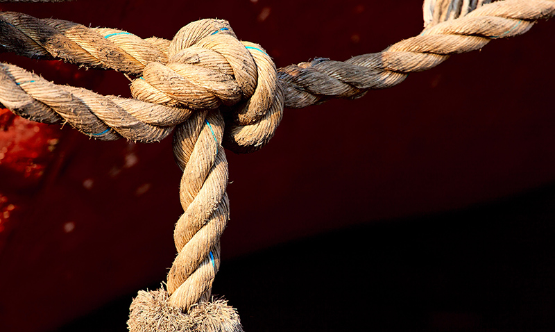 Knotted rope.