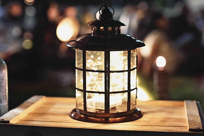 Lantern in the dark.