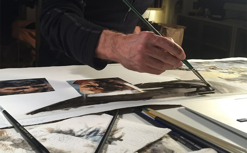 Greg Manchess's Hand While Painting