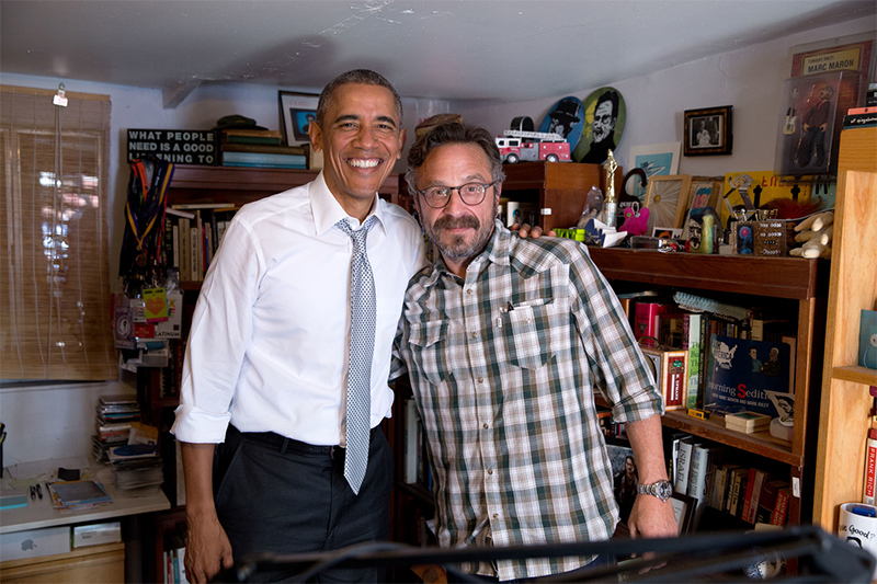President Obama and Marc Maron