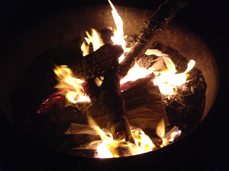 Saturday night campfire.