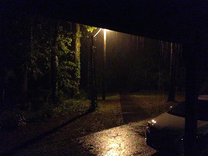 A rainy night in East Texas