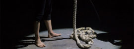 Coiled rope on the floor