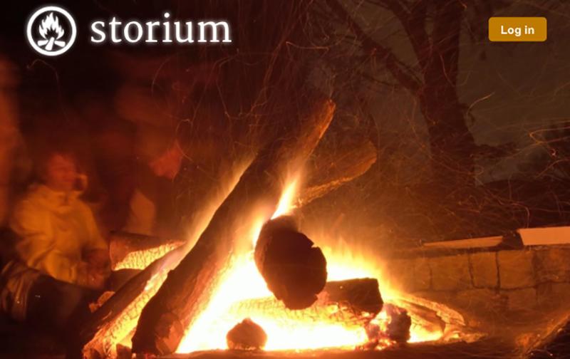 Campfire w/ Storium logo