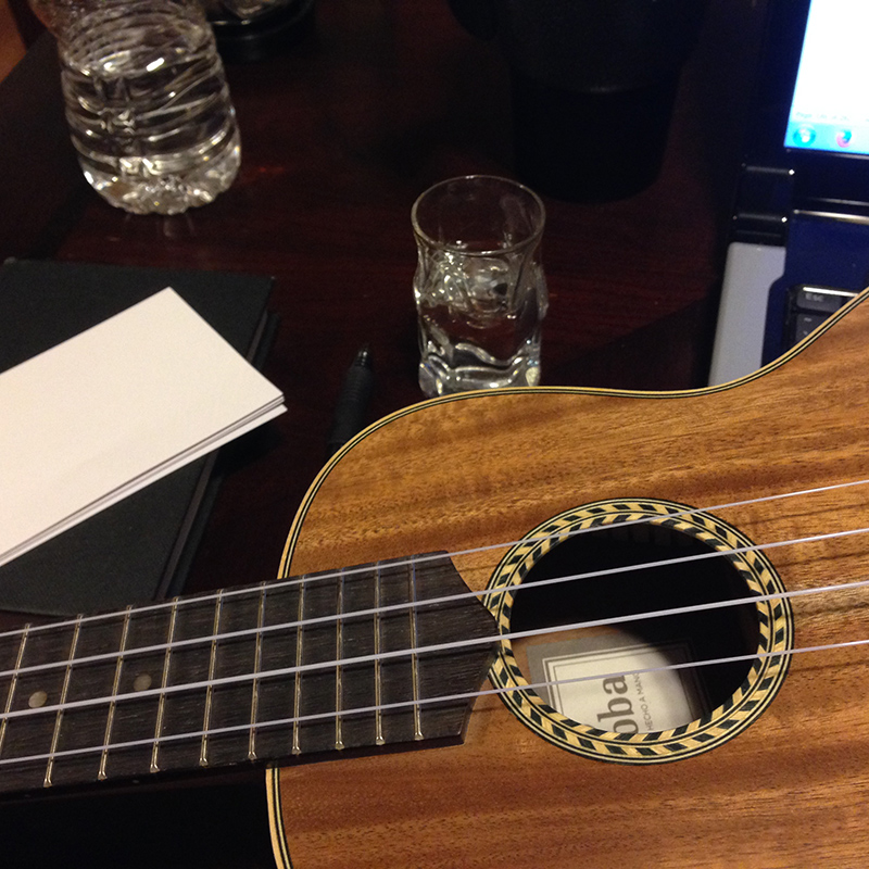 When the writing was done, the ukuleles came out...