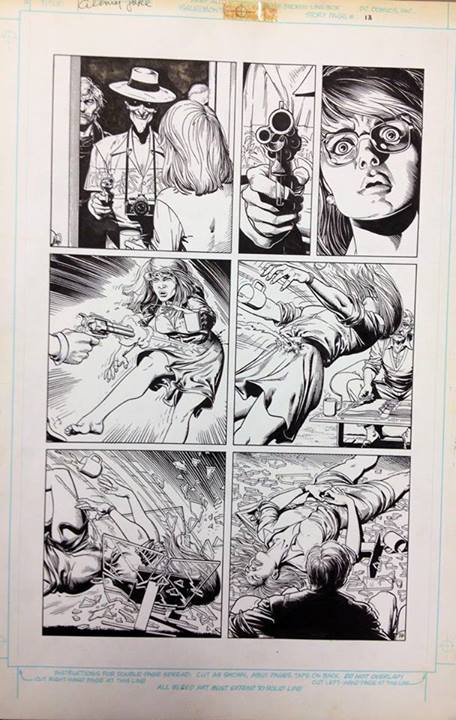 Batman: Killing Joke. Original page - the shooting of Barbara Gordon.