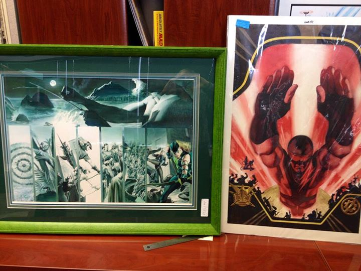 Original Alex Ross and Steve Rude art.
